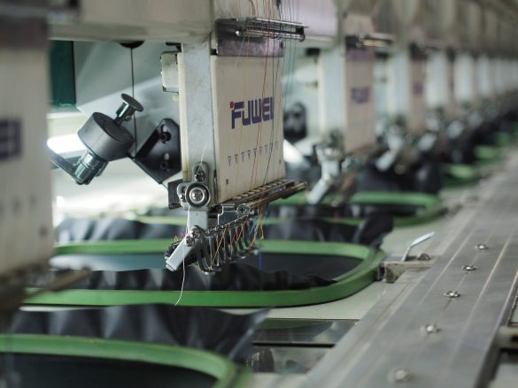 Industrial Embroidery Machine used in overseas garment production
