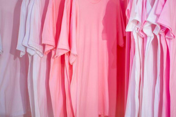 Custom Dyed Pink Tshirts
