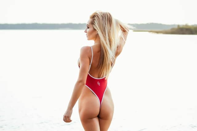 The classic red one piece swimsuit is back for 2020!