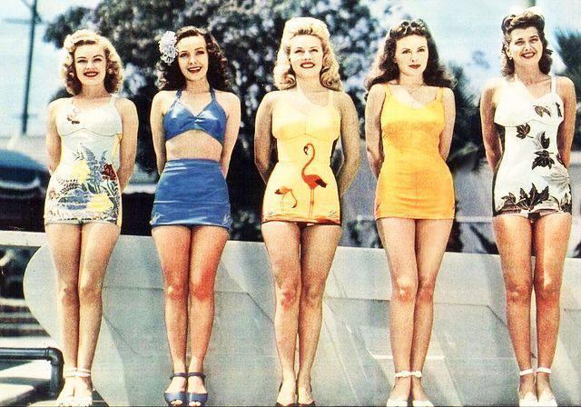 1950s retro-style swimsuits