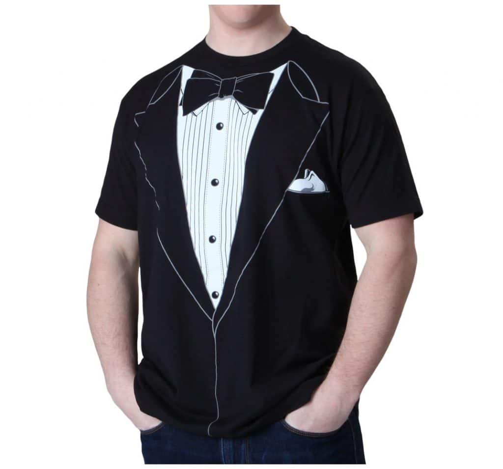 The always-suave tuxedo tshirt design